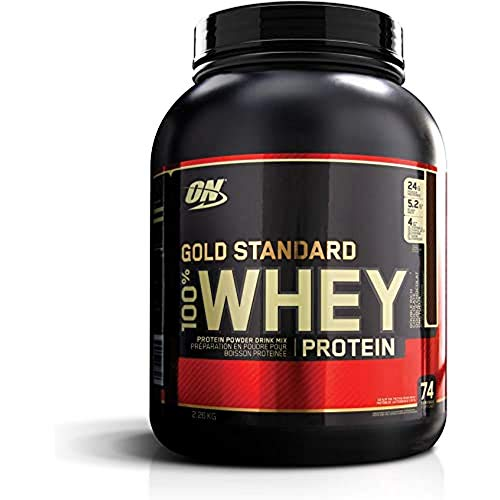 Optimum Nutrition Gold Standard 100% Whey Protein Powder, Double Rich Chocolate, 5Lb 2270 g