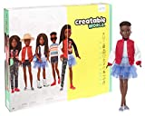 Creatable World Deluxe Character Kit DC-725 Customizable Doll with Black Braided Hair, 6 Pieces Doll Clothes, 3 Pairs Shoes and 2 Accessories, Creative Play for All Kids 6 Years Old and Up