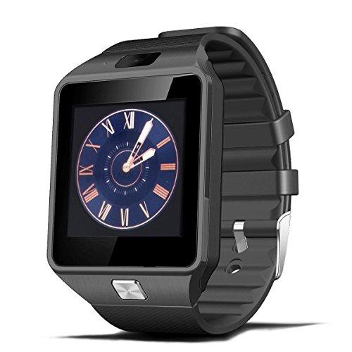 Smartwatch Bluetooth, Deyoun Bluetooth Intelligente dell'orologio della Vigilanza con la Macchina Fotografica Sync SIM / TF Card Slot