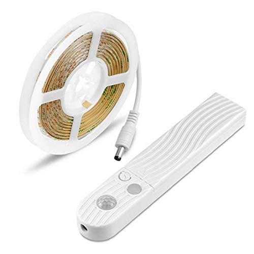 LED Strip Lights String USB Motion Sensor Closet Light 5V with Waterproof Battery Box for Bedroom Wardrobe Closet 3M Warm Light Utilities