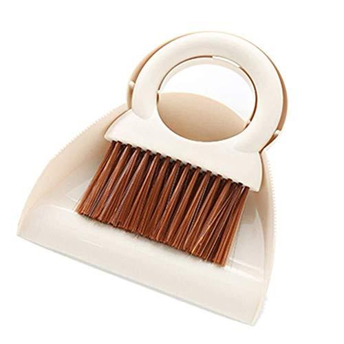 NJIUHB Bezem, Mini stoffer en blik Stelt Clean Het toetsenbord, Soft en slank borstelharen antistatisch gemakkelijk op te slaan zekerheid Milieu PP, 8,1 * 7.1in (Color : White, Size : 20.6x18cm)