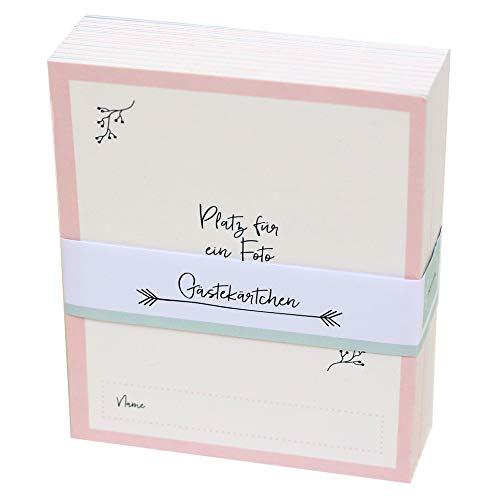 Gästebuchkarten mit Aufbewahrungsbox