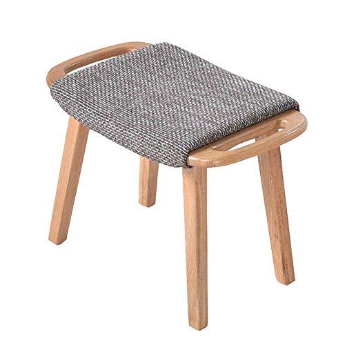 YLCJ Kruk Thuis kruk in massief hout Kruk Sofa Pedaal Seat Pedaal Korte schoen Bench Slaapbank (kleur: grijs) Grijs