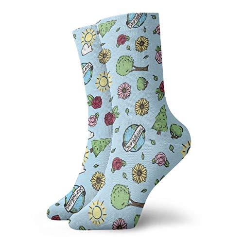 Socken damen 39-42 Earth Day_1398,100prozent Baumwolle rutschfest für Herren Damen one size.