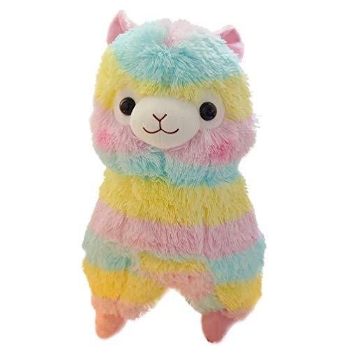 SOIMISS Alpaka Plüsch Spielzeug Regenbogen Cartoon Kinder Plüschtiere Puppe Geburstage Neujahr Kuscheltier Geschenk für Kinder Erwachsene