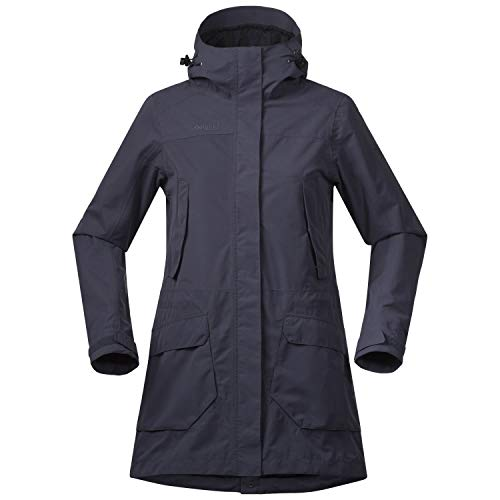 Bergans Lone Lady Jacket Blau, Damen Regenmantel, Größe XS - Farbe Night Blue - Dark Navy
