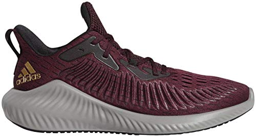 adidas Alphabounce + Zapato – Unisex Running, (Granate-oro metálico-negro), 48