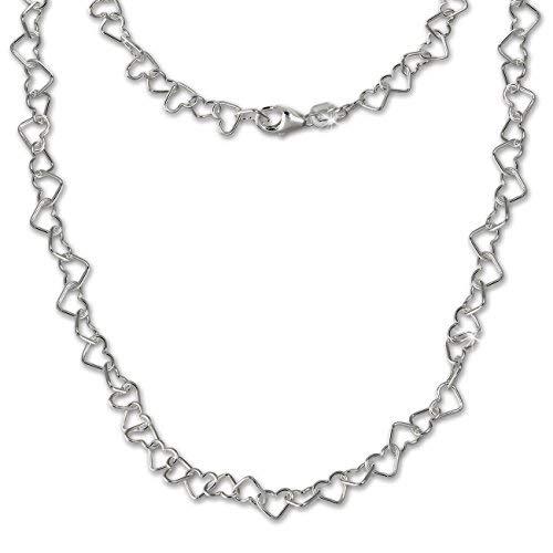 SilberDream Herzchen Halskette silber Damen Schmuck 45cm 925 Silber SDK27545J