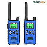 FLOUREON Walkies Talkies al Aire Libre Radio Bidireccional Walkie con 16 Canales Pantalla LCD de 3 Millas