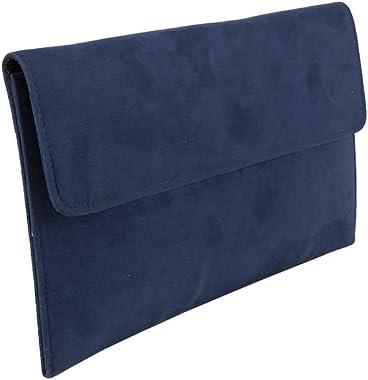 Anna Cecere Clutch ACX 429 blau Tasche aus Ökokamoskol