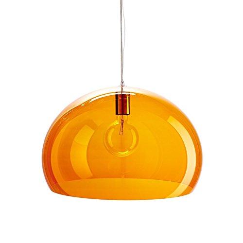 Kartell Small Fl/Y, Suspension Lamp, Orangefalben