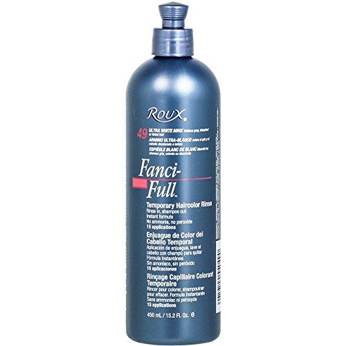 Roux Fanci-full Temporary Color Rinse 49 Ultra White Minx, 15.2 Oz