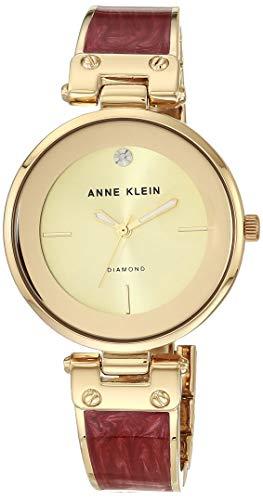 ANNE KLEIN Reloj Analógico para Mujeres de Cuarzo japonés con Correa en Aleación AK/2512BYGB