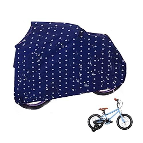 Gettop Funda Bicicleta para Exterior Interiores para Niños- Hebillas a Prueba de Viento Diseño - Impermeable& Anti Polvo - Azul, Verde, Amarillo(L, M, S) (Color : Blue, Size : L)