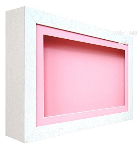 BabyRice Deep Shadow Box Bilderrahmen-weiß-für 3D-Objekte, Kunst, Ornaments,, 05 m,