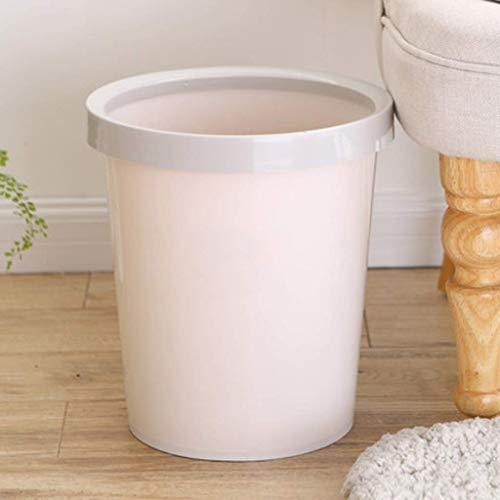 SFSGH Plastic Dustbin   Bathroom Wastebasket Round Trash Can Home Bathroom Living Room Bedroom Kitchen 25.5x28cm/10x11in