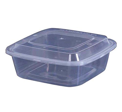 Produits jetables Transparents de boîte à Lunch de Restauration Rapide de 10 PCS, 13x13x6CM