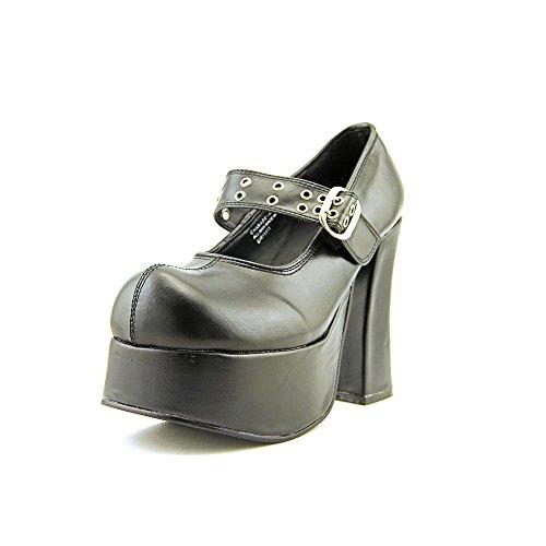 Demonia Damen Gothic-Schuhe 11,4 cm Mary Jane Pumps klobige Plateausohle, Ösenriemen, Größe: 8 schwarz