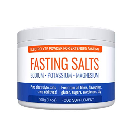 Fasting Salts: Sodium, Potassium, Magnesium. Pure Electrolytes Powder for Intermittent and Extended Fasting. Zero Additives - Pure Salts Only. 400g Tub.