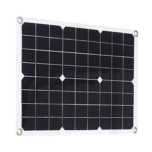 Ritioner Panel Solar de 50 W con Kits de Cargador de batería de automóvil con Interfaz USB