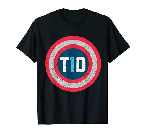 T1D Diabetic Type 1 Diabetes Awareness Men Women Kid Gift T-Shirt