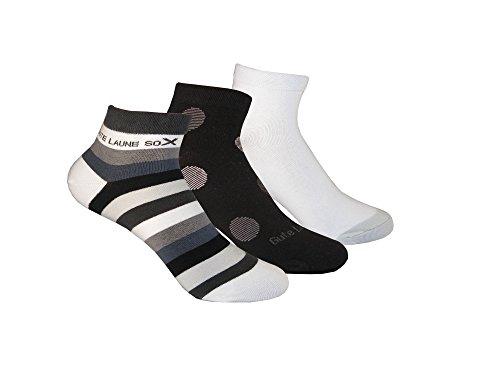 Trichter kurze Gute Laune Socken für Damen 6 Paar - Hochwertige Frauen Strümpfe in schwarz, weiß...