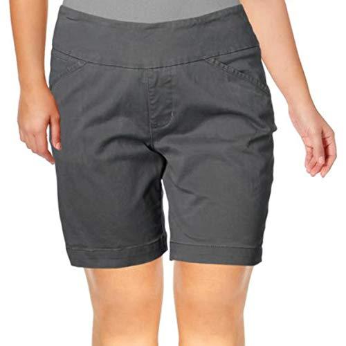 Jag Jeans Women's Ainsley Pull on 8' Short, Grey Streak Twill, 0