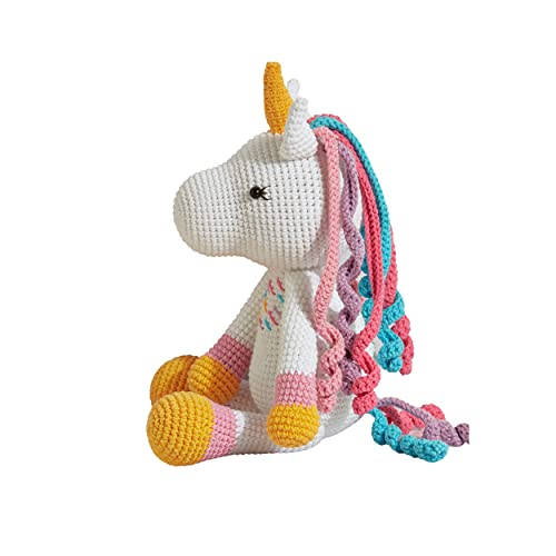 Chippi & Co Rainbow Unicorn Crochet Stuffed Animal 9'' for Gender Neutral Baby Gift Baby Shower and mom to be Gift