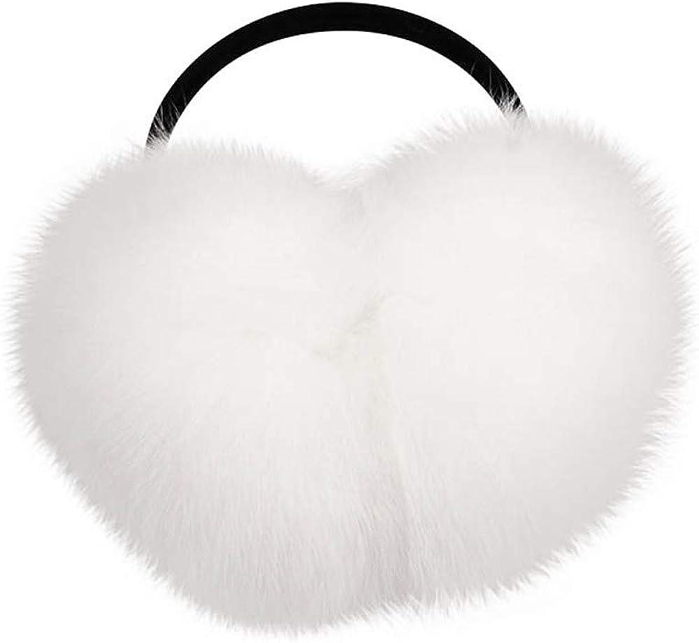 Real Fox Fur Earmuffs Women's Winter Furry Ear Muffs Headband