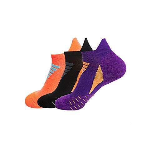 3 pares Maratón deportes calcetines hombres mujeres engrosados desodorante élite baloncesto calcetines corriendo toalla inferior calcetines cortos tubo calcetines color5