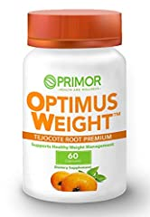 100% NATURAL: Optimus Weight is made of 100% natural ingredients and is formulated to help you lose weight in an easy and natural way. TEJOCOTE PREMIUM ROOT: Cleans and detoxifies your organism, evacuating accumulated fat. SPIRULINA: Helps control ap...