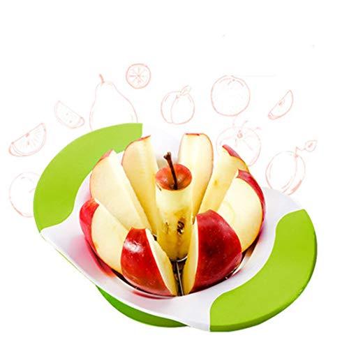 Fruit Cutter, Apple Slicer gesneden fruit Verdelers Corer thuis keukengerief Splitter Chopper Spiralizer Vegetable Slicer (Color : Green)