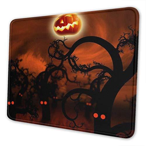 Mauspad mit genähter Kante, Happy Halloween Premium-strukturierte Mausmatte, rutschfestes Gummibasis-Mousepad für Laptop, Computer und PC