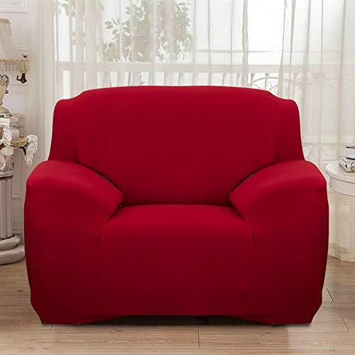 NIBESSER Sofabezug elastische Stretch Sofaüberwurf Sofa Couch Sessel Husse Bezug Decke Sofabezüge 1/2/ 3/4 Sitzer (1-Sitzer, Rot)