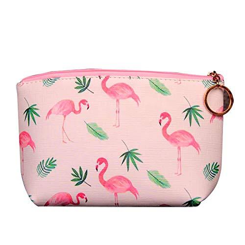 Ellaao - Piccoli sacchetti per cosmetici da viaggio per donne con fenicottero, mini borsa per il trucco, borsa portatile con chiusura a zip, 22 x 15 x 8 cm Stile 4 Taglia unica