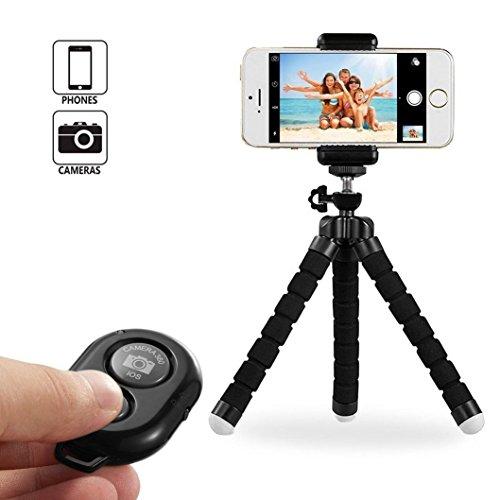Telefon Stativ, UBeesize Portable und verstellbare Kamera Ständer Halter mit Fernbedienung und Universal Clip für iPhone, Android Phone, Kamera, Sport Kamera von VOYAGO