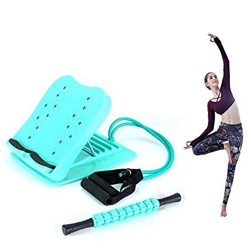 Stretch Board Waden Training, Verstellbare Kalb & Achillessehne Schrägbrett, Anti-Rutsch Reha Massagegerät, Grün