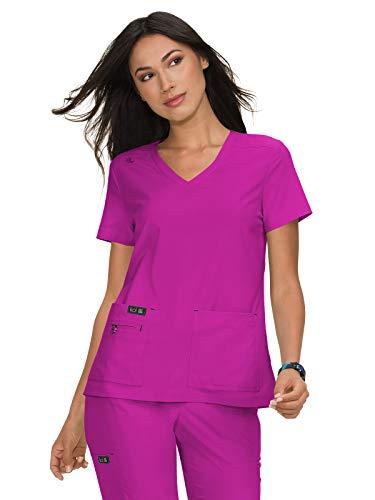 KOI Basics 373 Women's Becca Scrub Top Azalea Pink L