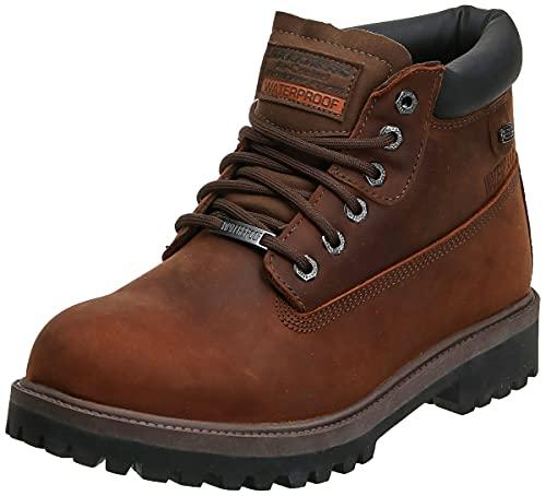 Skechers Men's Sergeants-Verdict Waterproof Boot,Dark Brown,10.5 M US