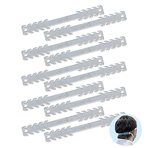 Starlim Silikon Maskenhaken Maskenhalter Masken Ohrband Maskenband Maskenverlängerung verstellbar für FFP2 KN95 Mund Nasen Schutzmasken transparent 10er Set
