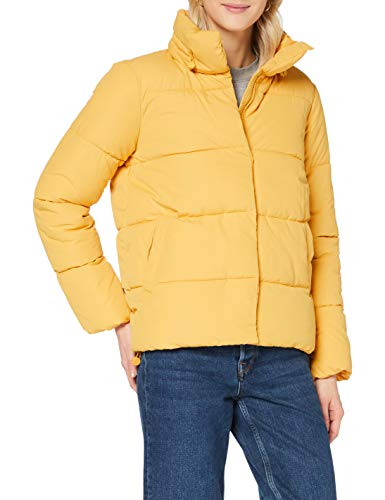TOM TAILOR Denim Damen Puffer Stehkragenjacke Jacke, 10410-Indienn Spice Yellow, L