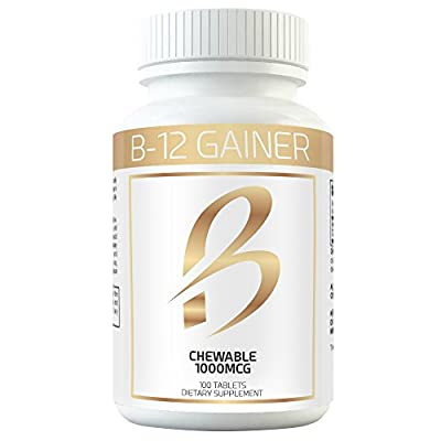 Gain Weight Fast w Weight Gainer B-12 Chewable Absorbs Faster Than Weight Gain Pills for Fast Massive Weight Gain in Men and Women While Opening Your Appetite More Than Protein from Nu Derm Poducts