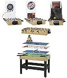 Arcade Jeux – Table Multisport – Multi-Jeux - 8 Jeux - Fabrication de Haute Qualité – Finition Hêtre