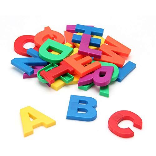 PMSMT Nuevo Juego de Regalo, imanes, Alfabeto de enseñanza, Juego de 42 Letras y números magnéticos Coloridos para Nevera, educación, Aprendizaje, Lindo niño, Juguete para bebé