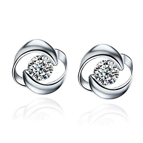 N / A Nigoz - Pendientes colgantes de plata para mujer, cómodos y respetuosos con el medio ambiente