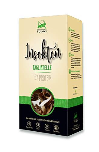 Grasshopper Foods, Insekten Tagliatelle, Insektenpasta, Eiernudeln mit proteinreichem Insektenpulver (250 g)