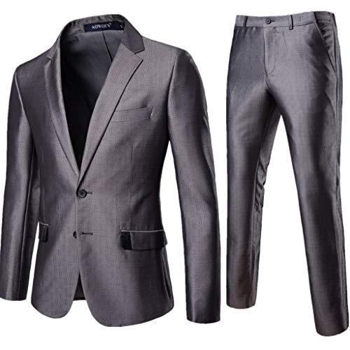 FRAUIT Vestito Uomo Elegante Completo Abito Uomo Slim Fit + Pantaloni Uomo Eleganti Giacca Uomo Elegante Primaverile Vestiti Uomo Moda Cappotto Uomo Classico Matrimonio Feste Blazer Giacca