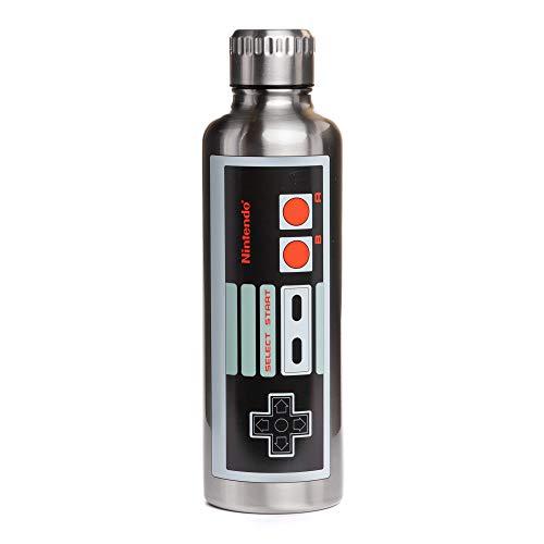 Paladone Botella de agua de metal NES