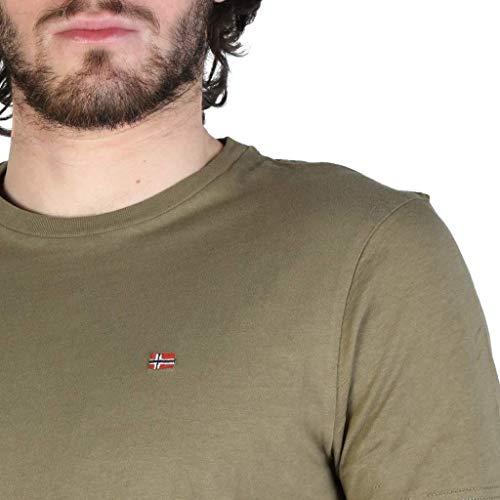 Napapijri Short Sleeve T-Shirt SELIOS, Mens, Size: XXL. Red