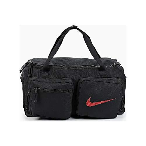 Nike Utility S Duff Gfx SU20 Duffel Unisex Duffel Nero/Nero/Rosso